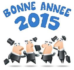 Polygone - Fond Blanc Bonne année