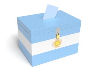 Argentina Flag Ballot Box
