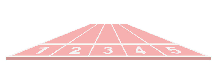 Running track in pink design