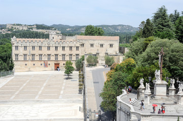 Place du Palais at Avignon on France