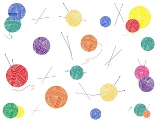 "Vector background ""Ball of thread"""