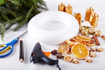 Things to manufacture Christmas wreaths