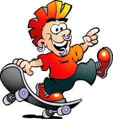 Happy Cool Skater Boy