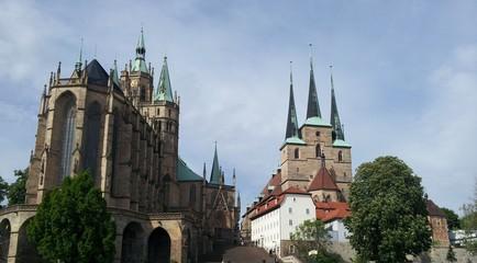 Erfurt, Blick auf Dom und Kirche