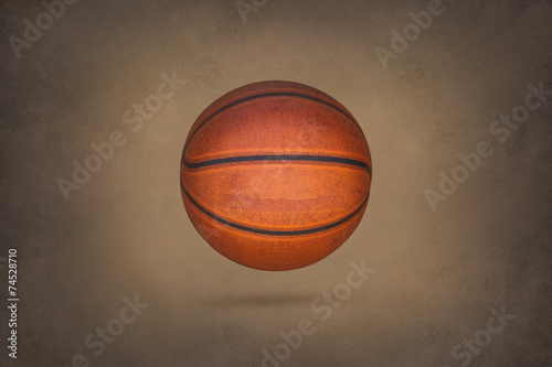 Poster Old basketball on grunge texture background