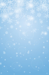 Abstract vertical christmas background with snowflakes.
