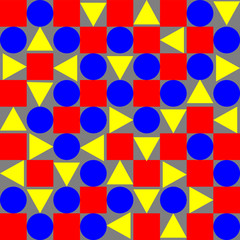 vector with red yellow and blue shapes