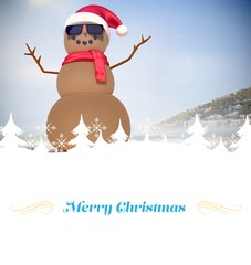Composite image of Christmas greeting card