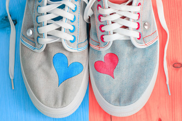 Jeans sports shoes