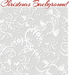 Winter Floral 3d Seamless Pattern Background.