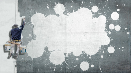 Customizable industrial paint background