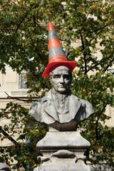 Paris - Sorbonne Square. Monument of Auguste Comte
