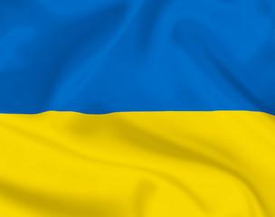 Ukrainian flag background