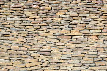 texture of the stone wall