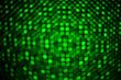 Green laser light. Abstract bokeh background.