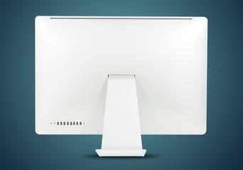 Black white computer monitor