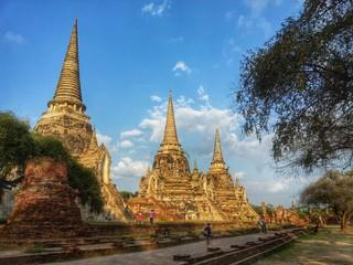 Wat Phrasisanphet Pagoda at Ayutthaya , Thailand