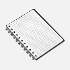 Vector illustration of spiral notebook