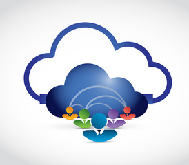 cloud computing people network connection