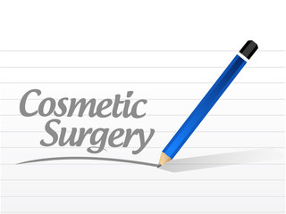 cosmetic surgery message sign