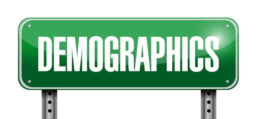 demographics street sign illustration