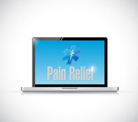 pain relief medical sign on a computer