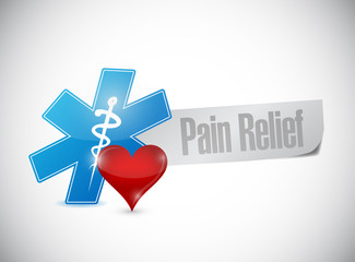 pain relief medical sign illustration