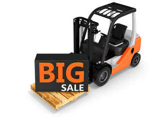 3d forklift with big sale box