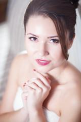 Romantic portrait of the bride