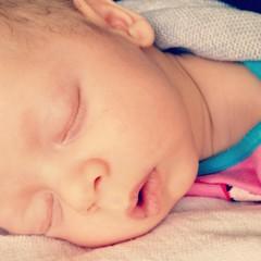 Sleeping beautiful newborn