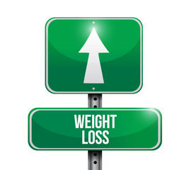 weight loss road sign illustration