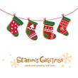 Christmas stockings, greeting card