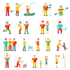 People in different situations  vector