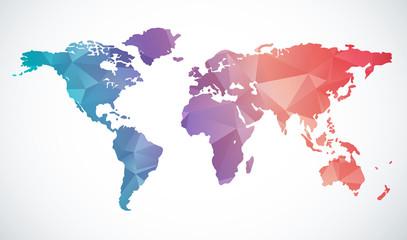 fototapeta abstrakcyjna mapa świata