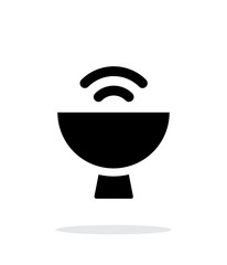 Satellite dish icon on white background.