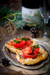fillet of a salmon in puff pastry