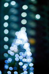 Abstract light glowing decoration Christmas, soft and blur conce