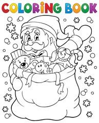 Coloring book Santa Claus in snow 4