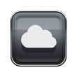 Leinwandbild Motiv Cloud icon glossy grey, isolated on white background
