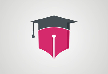 Pen graduate logo illustration