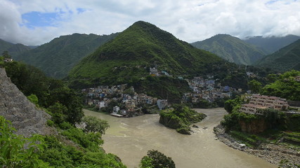 The Ganges begins at the confluence at Devprayag