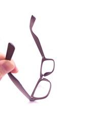 外したメガネ
