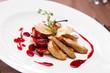 canvas print picture - foie gras with sauce