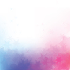 Vector abstract, stars background, pink and blue colors.