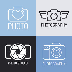 Vector set of photography logos
