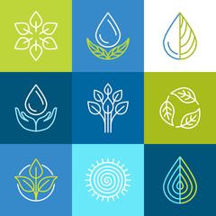 Vector organic logos