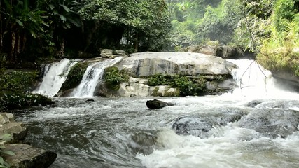Waterfall or cascade in tropical forest