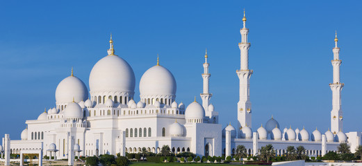 Panoramic view of famous Sheikh Zayed Grand Mosque