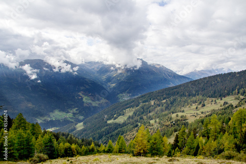 canvas print picture Mountains in the Alps of Tirol