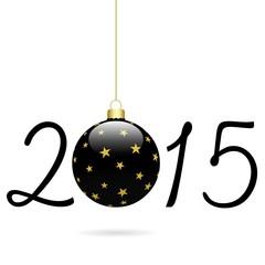 2015 avec boule noire étoilée